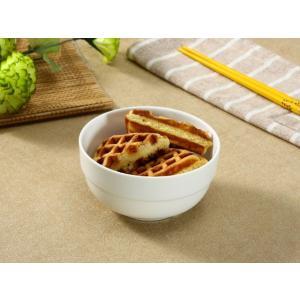 ライスボウル スープボウル 4.3号 320ml 縁あり 白磁 おしゃれ レンジOK 小さい 韓国風|nishida-store