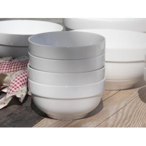 茶碗 ライスボウル  4.5号 縁あり  ご飯 どんぶり 白磁 おしゃれ レンジOK 普通盛り 韓国風|nishida-store