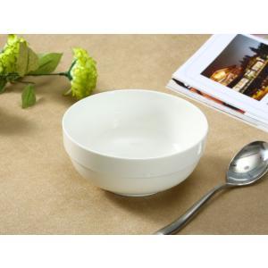 どんぶり 白磁 おしゃれ  6号丼  茶碗 ご飯 ライスボウル まんぷく レンジOK 大きい 無地 シンプル カフェ丼|nishida-store