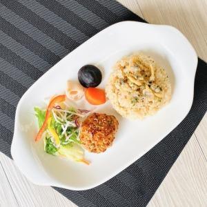 大皿 長皿  12.5号 取っ手付き  プレート 大きい 白磁 おしゃれ レンジOK 軽い スクエア カフェ|nishida-store
