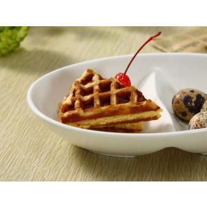 ランチプレート 仕切り皿 楕円皿  2つ 仕切り  オーバル 白磁 おしゃれ レンジOK 軽い シンプル カフェ|nishida-store