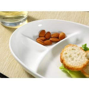 ランチプレート 仕切り皿  3つ仕切り 楕円型  オーバル 白磁 おしゃれ レンジOK 大きい カレー皿|nishida-store