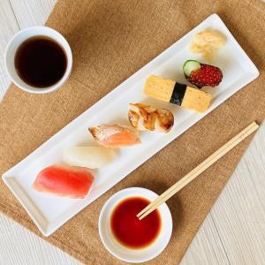長皿 プレート  14号  オードブル皿 さんま皿 寿司皿 大きい 白磁 おしゃれ レンジOK カフェ|nishida-store