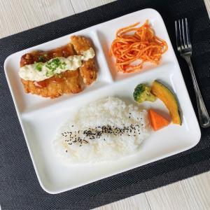 ランチプレート 仕切り皿  三つ仕切り 浅め  白磁 おしゃれ 大きい レンジOK 無地 シンプル カフェ|nishida-store