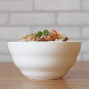 ライスボウル 4.5号 11.4cm 渦巻タイプ 茶碗 ご飯 白磁 おしゃれ レンジOK シンプル ホワイト|nishida-store