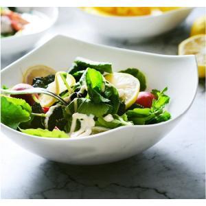 サラダボウル 取り皿  500ml  中鉢 取り鉢 おしゃれ 白磁 大きい レンジOK 軽い カフェ シンプル ホワイト|nishida-store