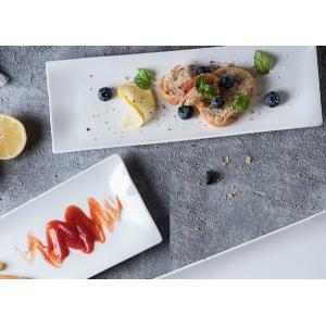 長皿 さんま皿  12号  オードブル皿 白磁 おしゃれ レンジOK 軽い レクタングル|nishida-store
