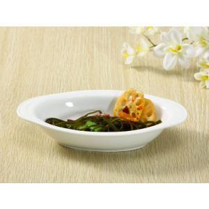 特価商品 ドリア皿  9号楕円皿  白い 軽い 強化磁器 シンプル オーバル 業務用 nishida-store