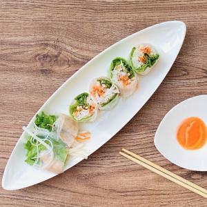 長皿 楕円皿 白磁 おしゃれ  12号 笹の葉紋  オードブル皿  カフェ レンジOK 軽い 小さい シンプル|nishida-store