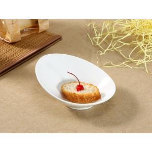 カレー皿 ボウル おしゃれ 白磁  230ml 子ども用  楕円皿  オーバル パスタ皿 レンジOK 軽い カフェ  シンプル|nishida-store