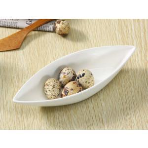 サラダボウル 8号 200ml オリーブ型 大きい 白磁 軽い シンプル おしゃれ 無地 レンジOK カフェ|nishida-store
