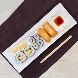 長皿 さんま皿  14号  寿司皿 オードブル皿 白磁 おしゃれ レンジOK 軽い レクタングル プレート|nishida-store