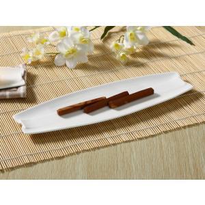 さんま皿 オードブル 長皿 14号 35cm 白磁 おしゃれ レンジOK シンプル ホワイト|nishida-store