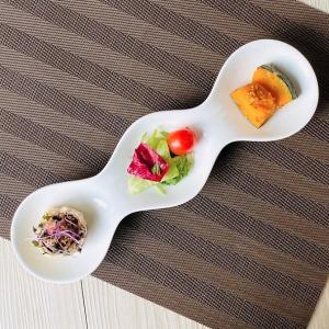 仕切り皿 オードブル皿  3連 ボウル  白磁 無地 シンプル おしゃれ 軽い カフェ 大きい 長皿|nishida-store