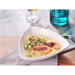 小鉢 サラダボウル 白磁 おしゃれ  6.5号 三角形   レンジOK オリジナル 煮物 シンプル 無地 軽い カフェ|nishida-store