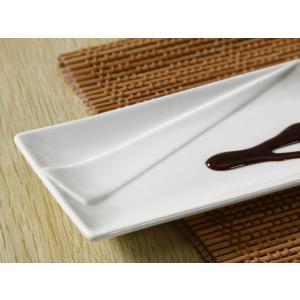 さんま皿 プレート  10号  長皿 プレート オードブル皿 白磁 おしゃれ レンジOK 小さい レスタングル nishida-store