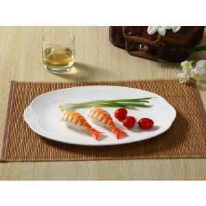 オーバルプレート 大皿  13.5号  盛り皿 オードブル皿 白磁  おしゃれ カフェ  レンジOK 軽い 大きい|nishida-store