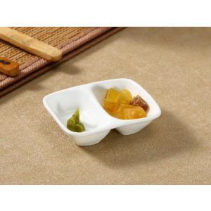 仕切り皿 小皿 深め  8.3cm  白磁 おしゃれ 豆皿 薬味 醤油 レンジOK 無地 小さい お皿|nishida-store