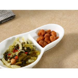 小皿 白磁 おしゃれ  13.5cm 瓢箪型  仕切り皿 軽い レンジOK 薬味 醤油 タレ入れ シンプル|nishida-store