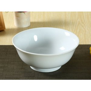ラーメン用どんぶり 茶碗 おしゃれ 白磁 (1250ml)<br>【食器  訳あり 無地 厚い レン...