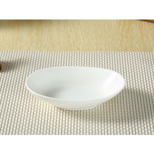 オーバルプレート 15.5cm キッズ食器 サラダボウル 白磁 おしゃれ 小さい レンジOK カフェ|nishida-store