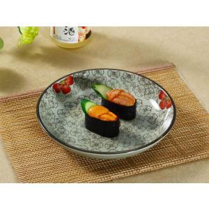 和食器 丸皿  8号 赤い椿  和食器 軽い 丈夫 シンプル 花柄 レンジOK 大きい 中皿 取り皿 プレート おしゃれ|nishida-store