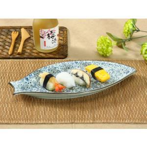 魚形の皿  青い花集い  プレート 大きい 割れにくい 軽い レンジOK 花柄 カラバリ おしゃれ オリジナル|nishida-store