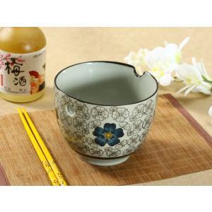 どんぶり 650ml 青い椿 箸置き付き ライスボウル 大きい レンジOK おしゃれ 花柄|nishida-store