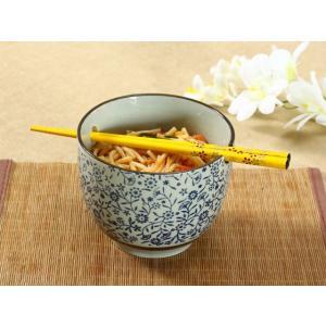 どんぶり 650ml 青い花集い 箸置き付き ライスボウル 大きい レンジOK おしゃれ 花柄|nishida-store