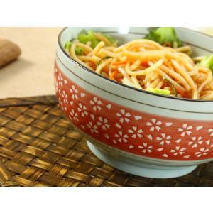 和食器 丼   6.5号 赤地白桜  ご飯 茶碗 子供 花 ペアOK シンプル まんぷく 強化磁器 大きい ボウル 業務用|nishida-store