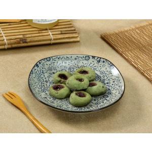 角皿  7号 青い花集い  プレート 花柄 取り皿 大きい 野菜 おしゃれ 中皿 小鉢 シンプル 割れにくい|nishida-store
