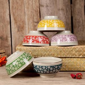 茶碗  4.5号 ピンク地白桜  茶碗  どんぶり ご飯 子ども 野菜 まんぷく 普通盛り レンジOK 花柄 カラバリ ボウル 陶磁器 スープ ライス|nishida-store