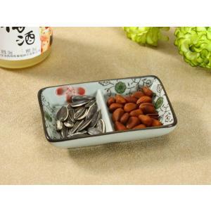 小皿 仕切り皿 4.5号 11cm 赤いコスモス タレ入れ 豆皿 おしゃれ 花柄 レンジOK|nishida-store