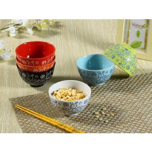 茶碗  4.3号 水玉模様   ご飯 ライス ボウル 子ども カラバリ おしゃれ 軽い 丈夫  割れにくい|nishida-store