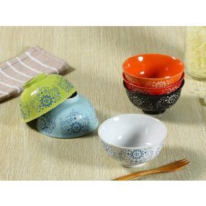 茶碗 4.5号 6色 ひまわり模様 ご飯 ライス ボウル スープ おしゃれ カラバリ 北欧風 シンプル nishida-store