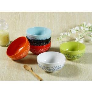 茶碗 6.5号  6色 水玉模様 ライス ボウル スープ サラダ おしゃれ 陶磁器 軽い 大きい 訳あり 北欧風 nishida-store