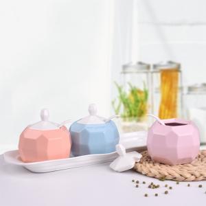 カラフルな天然発色鉱石製レンゲ付調味料入れ単品(ドーム型) 指定色3個購入でトレープレゼント |nishida-store