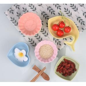 カラフルな天然発色鉱石製小鉢 小皿 前菜入れ 漬物入れ 果物入れ 陶器製 可愛い お洒落 引き出物 引っ越し祝い nishida-store
