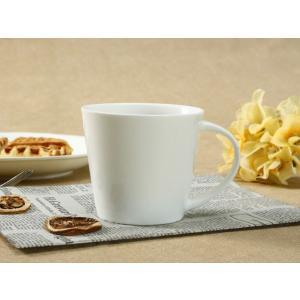 マグカップ 白磁 おしゃれ  370ml 広口  大きい レンジOK コップ 無地 コーヒー カフェ シンプル nishida-store