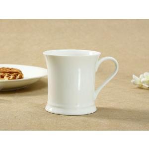 マグカップ 白磁 おしゃれ 330ml 鼓形 大きい レンジOK コップ 無地 シンプル コーヒー カフェ