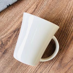 マグカップ 白磁 おしゃれ  340ml ラッパ形  レンジOK 大きい カフェ コーヒー 無地 シンプル コップ|nishida-store
