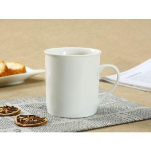 マグカップ 白磁 おしゃれ  290ml 円筒形  小さい 子ども用 コップ ジュース 無地 シンプル 白い|nishida-store