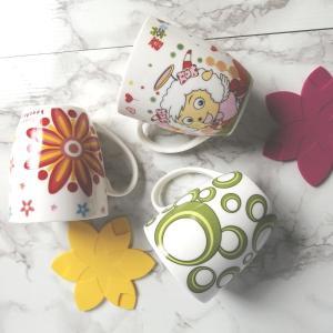 特価商品 マグカップ 350ml  秋柄  コップ 白い こぼれない  強化磁器 軽い シンプル かわいい 花柄 おしゃれ コーヒー ティー スタバ風|nishida-store