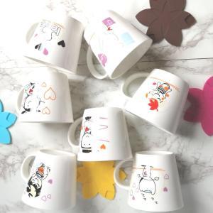 特価商品 マグカップ 広口370ml  LOVE柄 洋食器 コップ 大きい 保温 割れにくい 強化磁器 業務用 大容量 こぼれない 白い 軽い シンプル おしゃれ|nishida-store