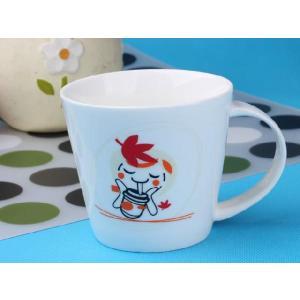 特価商品 マグカップ 広口370ml 秋色の柄 コップ 大きい 保温 割れにくい 強化磁器 業務用 大容量 こぼれない 白い 軽い シンプル おしゃれ|nishida-store