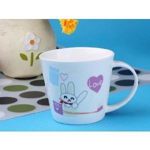 特価商品 マグカップ 広口370ml ウサギ コップ 大きい 保温 割れにくい 強化磁器 業務用 大容量 こぼれない 白い 軽い シンプル おしゃれ|nishida-store