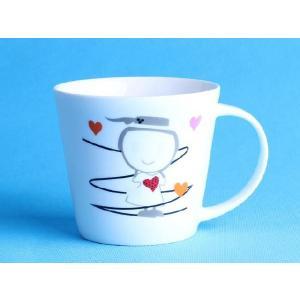 特価商品 マグカップ 広口370ml  女の子 洋食器 コップ 大きい 保温 割れにくい 強化磁器 業務用 大容量 こぼれない 白い 軽い シンプル おしゃれ|nishida-store