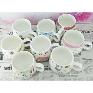 特価商品 マグカップ 広口370ml  女の子  コップ 大きい 保温 割れにくい 強化磁器 業務用 大容量 こぼれない 白い 軽い シンプル おしゃれ|nishida-store