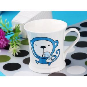 マグカップ 330ml  十二支 猿 申 白い 強化磁器 白磁 軽い おしゃれ 北欧風 大きい シンプル|nishida-store