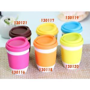 タンブラー  320ml 単層 ピンク色の蓋  白磁 おしゃれ シリコン 小さい 陶磁器|nishida-store